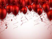 Celebre el fondo rojo con los globos libre illustration