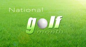 Celebre el mes nacional del golf Fotos de archivo libres de regalías