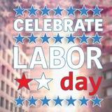 Celebre el texto y las estrellas del Día del Trabajo libre illustration