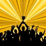 Celebre el triunfo representa el primer lugar y ganador ilustración del vector