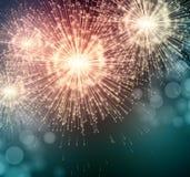 Celebre fuegos artificiales de la bengala del partido los pequeños Vector stock de ilustración