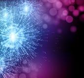 Celebre fuegos artificiales de la bengala del partido los pequeños Vector Imágenes de archivo libres de regalías