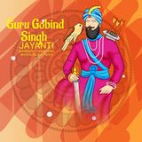 Celebre a Guru Gobind Singh Jayanti stock de ilustración