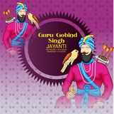 Celebre a Guru Gobind Singh Jayanti ilustración del vector