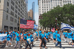 2015 celebre a Israel Parade en New York City Foto de archivo