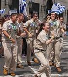 2015 celebre a Israel Parade en New York City Imagenes de archivo