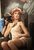 Celebre la belleza photoshooting Imagenes de archivo