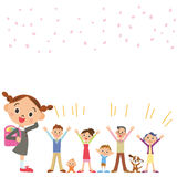 Celebre la entrada a la escuela ilustración del vector