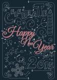 Celebre la Feliz Año Nuevo 2015 libre illustration