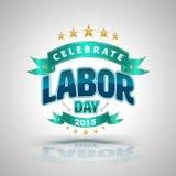 Celebre la insignia del Día del Trabajo ilustración del vector