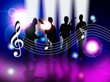 Celebre la música ilustración del vector