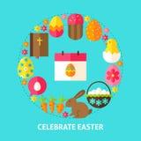 Celebre la postal de Pascua libre illustration