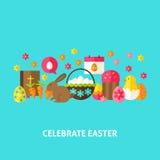 Celebre la tarjeta de felicitación de Pascua libre illustration