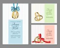 Celebre las invitaciones de boda de la invitación stock de ilustración