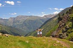 Celebre las montañas Foto de archivo libre de regalías