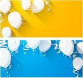 Celebre los fondos con los globos planos stock de ilustración