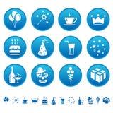 Celebre los iconos Stock de ilustración