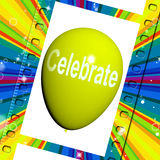 Celebre los partidos y la celebración de los eventos de los medios del globo libre illustration