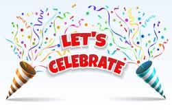Celebre los tostadores de palomitas de maíz del partido ilustración del vector