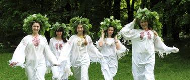 Celebre un día de fiesta pagano antiguo de Midsummer_3 Imagen de archivo libre de regalías