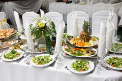 Celebretory table Stock Photo