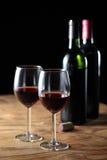 Celebri con vino rosso Fotografie Stock
