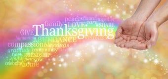 Celebri il ringraziamento fotografie stock
