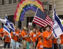 2015 celebri Israel Parade in New York Fotografie Stock Libere da Diritti