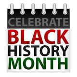Celebri l'icona nera di mese di storia illustrazione vettoriale