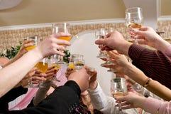 Celebriamo il successo. Immagini Stock