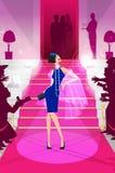 Celebridade na ilustração do tapete vermelho Imagem de Stock Royalty Free