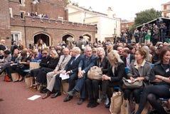 Celebridades de la primera fila, semana de la manera de Londres Foto de archivo libre de regalías