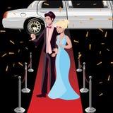 Celebridades de los pares en la alfombra roja ilustración del vector