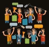 Celebridades del ídolo tales como político, actor, cantante Diseño plano Ilustración del vector libre illustration