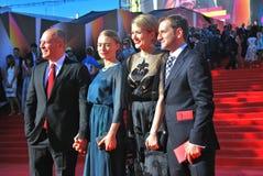 Celebridades en el festival de cine de Moscú Fotografía de archivo libre de regalías