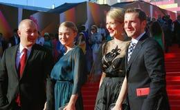 Celebridades en el festival de cine de Moscú Imagen de archivo libre de regalías