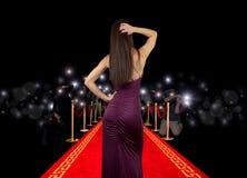 Celebrità su tappeto rosso Immagine Stock