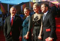 Celebrità al festival cinematografico di Mosca Fotografie Stock
