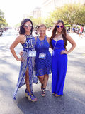 Celebrities at the Festival. Photo of latina celebrities at the parade at fiesta dc-festival latino on 9/19/15.  Fiesta dc is a latino festival held every year Royalty Free Stock Photos