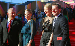 Celebrities at Moscow Film Festival Royalty Free Stock Image