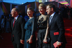 Celebrities at Moscow Film Festival Royalty Free Stock Photo