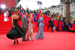 Celebrities at Moscow Film Festival. MOSCOW - JUNE 19, 2015: Celebrities at XXXVII Moscow International Film Festival red carpet opening ceremony. Actress Stock Photo