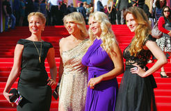 Celebrities at Moscow Film Festival. Celebrities at XXXV Moscow International Film Festival red carpet opening ceremony. First at left - tvv-presenter Daria Stock Photography