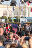 Celebrities on the red carpet at the 43rd Deauville American Film festival. On September 2, 2017 in Deauville, France Royalty Free Stock Photos