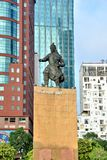 Celebrities statue in Ho Chi Minh City view, VietNam Royalty Free Stock Images