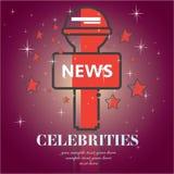 Celebrities universal movie greeting  icon. Celebrities universal movie greeting Stock Photo