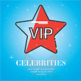 Celebrities universal movie greeting  icon. On blue background Stock Photos