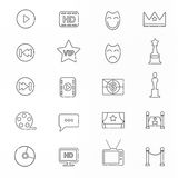 Celebrities universal movie  icons line. Big set Stock Photos