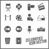 Celebrities universal movie  icons line. Big set Stock Images