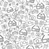Celebrities universal movie  icons line pattern. Celebrities universal movie  icons Stock Image